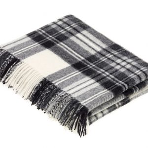 Lambswool Tartan Throw - Dress Grey Stewart - Bronte by Moon