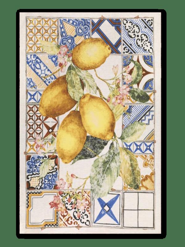 Azulejos - Linen Tea Towel - Made in Italy