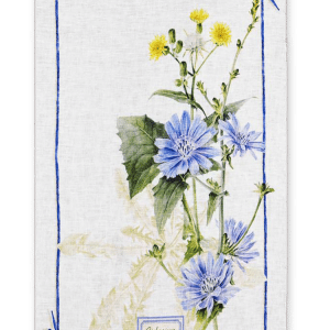 Fragrance Cicoria - Linen Tea Towel - Made in Italy