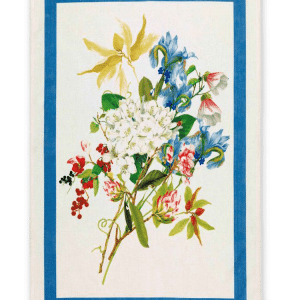 Ibisco Azzurro (Sky Blue) - Linen Tea Towel - Made in Italy