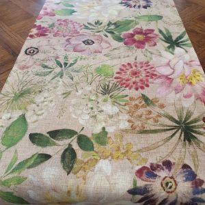 La Vie En Rose vis a vis Table Runner - 100% Linen Made in Italy