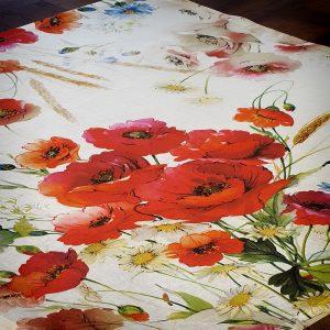 Coquelicot (Poppy) Tovaglietta (Table Topper) - Made in Italy