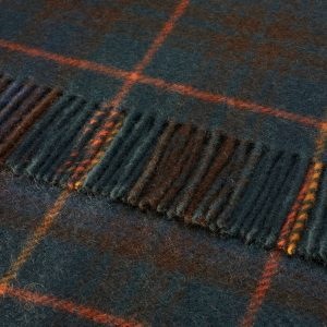 Pure Wool Knee Rug Antique Hunting Stewart Tartan Bronte by Moon