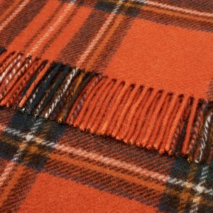 Pure Wool Knee Rug Antique Royal Stewart Tartan Bronte by Moon