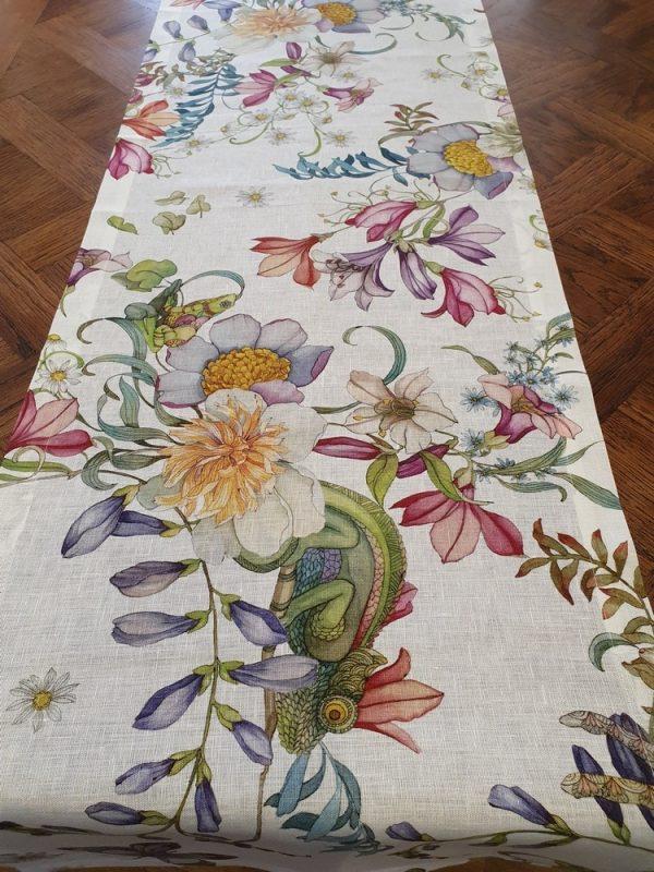 Semiramide vis a vis Table Runner - 100% Linen Made in Italyn Made in Italy