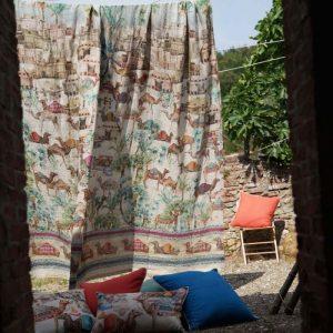 Souk Mezzero ThrowTablecloth 100% Linen Made in Italy