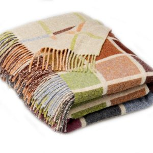 Multiblock Throw - Beige - Bronte by Moon