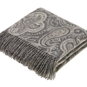 Paisley Throw - Slate - Bronte by Moon (Xtra Large)