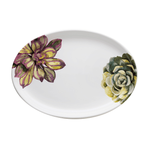 Cactus Oval Platter - Handmade in Italy by NuovaCER