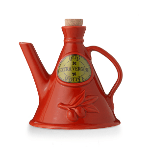'The Milk' Ceramic Olive Oil Cruet 500ml Handmade in Italy by NuovaCER