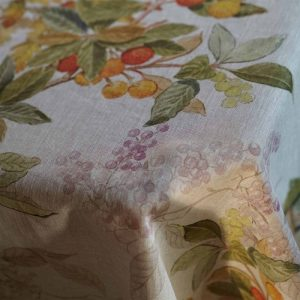 Arbousier Tablecloth - 160 x 230 - 100% Linen Made in Italy