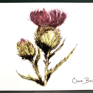 Clare Baird Placemat - Flower of Scotland (Thistle)