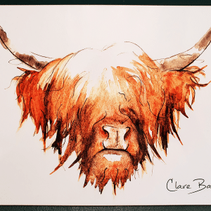 Clare Baird Placemat - Highland Cow