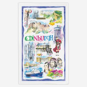 Edinburgh Tea Towel - Water Colours Britain - Stuart Morris