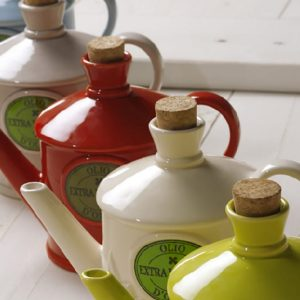 The Milk' Ceramic Olive Oil Cruet Handmade in Italy