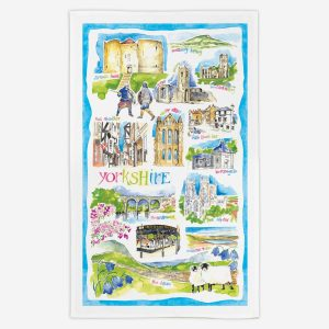 Yorkshire Tea Towel - Water Colours Britain - Stuart Morris