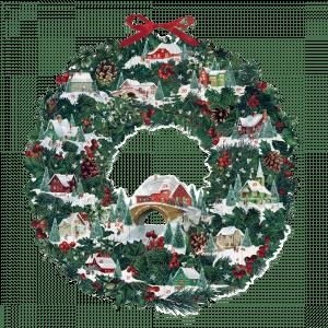 Christmas Wreath Advent Calendar (Double-sided)