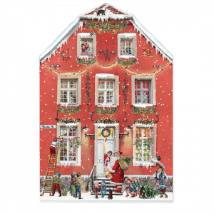 Advent Christmas at Home Calendar (Freestanding, Double-sided, Red)