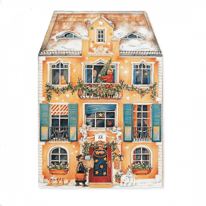 Advent Christmas at Home Calendar Orange (Freestanding, Double-sided)
