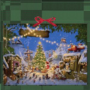 The Animals Christmas Market Wall Calendar