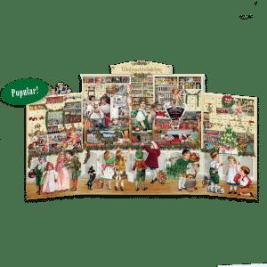 The Christmas Shop Advent Calendar (Freestanding Triptych)