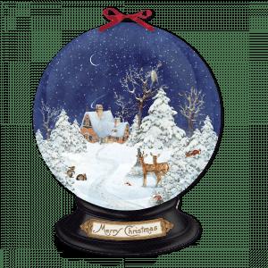 Winter Forest Snow Globe Advent Calendar