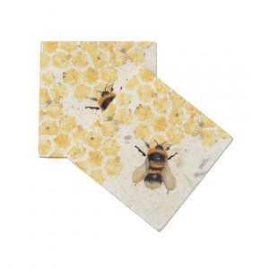 Bees Coasters (pair) - Kensington Collection by Kate of Kensington