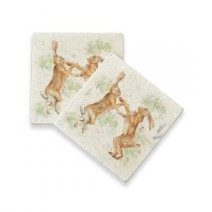 Boxing Hares (pair) - Kensington Collection by Kate of Kensington