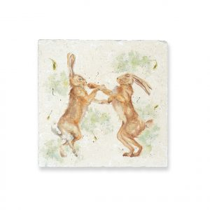 Boxing Hares Medium Platter - British Collection by Kate of Kensington