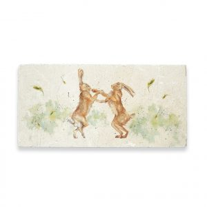 Boxing Hares Sharing Platter - Kensington Collection by Kate of Kensington