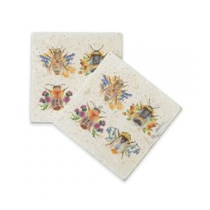Bees Coasters (pair) - British Collection by Kate of Kensington