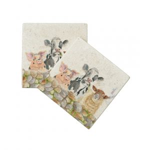 Garden Party Coasters (pair) - Kensington Colleciion by Kate of Kensington