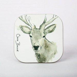 Highland Stag Coaster - by Clare Baird