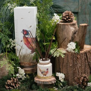 Pheasant in Grass White Tea & Bamboo Reed Diffuser by Kate of Kensington