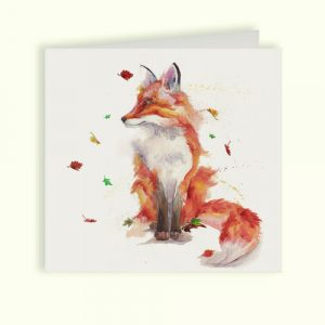 Trickster Fox Greetings Card - Kensington Collection by Kate of Kensington
