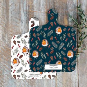 Winter Robin MINI Chopping Board by Toasted Crumpet