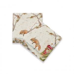 Christmas Post Coasters (pair) - Winter Collection by Kate of Kensington