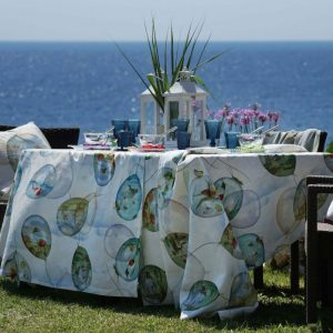 Balloons Tablecloth 100% Linen Made in Italy