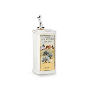 Oliere del Casale Ceramic Olive Oil Cruet (Square, 250ml)