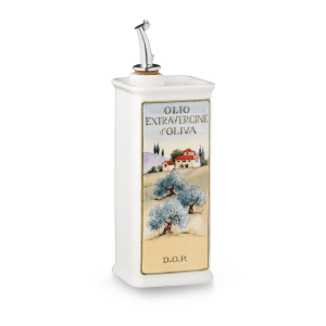 Oliere del Casale Ceramic Olive Oil Cruet (Square, 500ml)