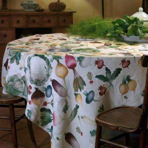 Potager Italian Linen Tablecloth