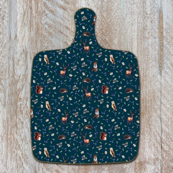 Woodland Creatures Chopping Board by Toasted Crumpet