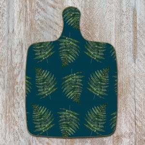 Woodland Fern Noir Chopping Board by Toasted Crumpet