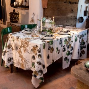 Glitter Christmas Tablecloth Made in Italy