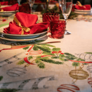 La Table Au Noel Tablecloth Made in Italy Large