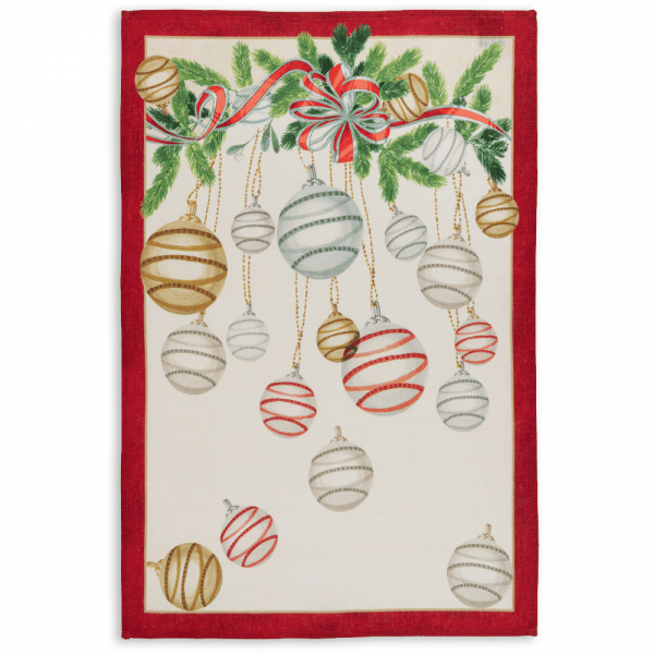 La Table au Noel Tea Towel Rosso
