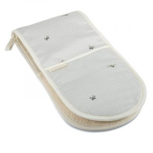 Bee & Stripe Double Oven Glove by Mosney Mill