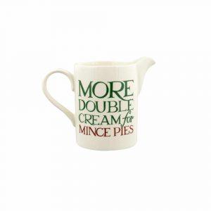 Christmas Toast & Marmalade Double Cream Small Straight Jug
