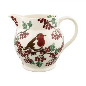 Hawthorn Berries & Robin 3 Pint Jug