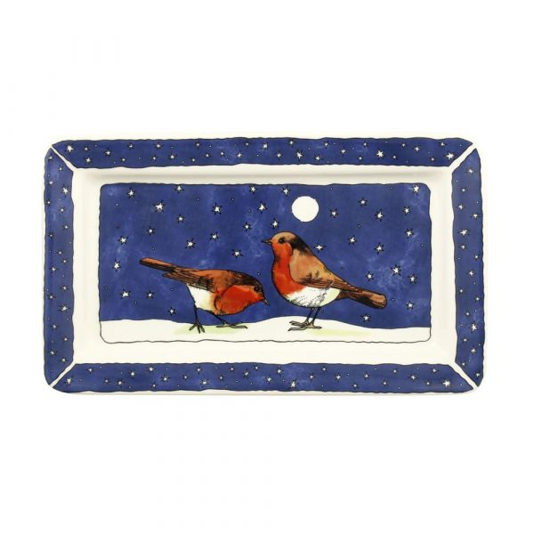 Emma Bridgewater Robins In The Snow Oblong Plate